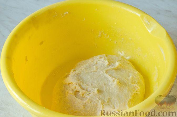 Фото приготовления рецепта: Отрывной пирог с курицей - шаг №9