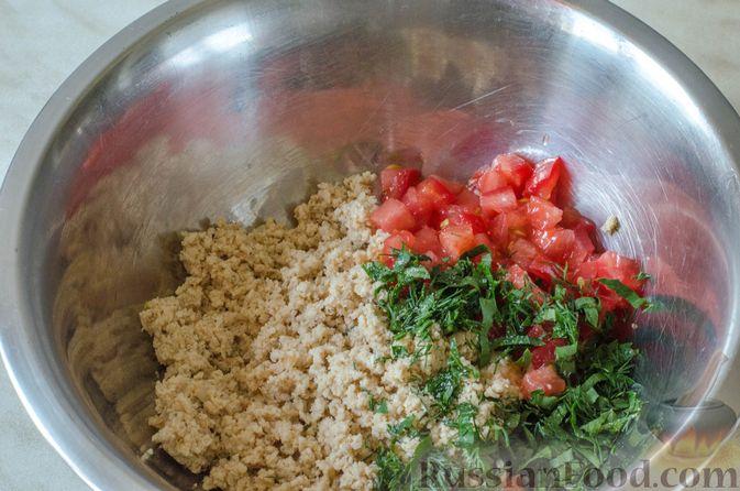 Фото приготовления рецепта: Отрывной пирог с курицей - шаг №17