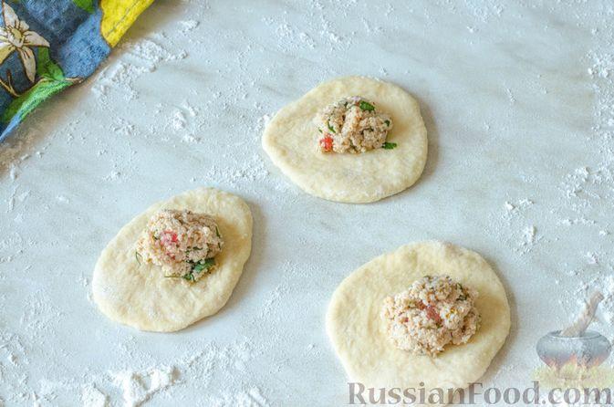 Фото приготовления рецепта: Отрывной пирог с курицей - шаг №23
