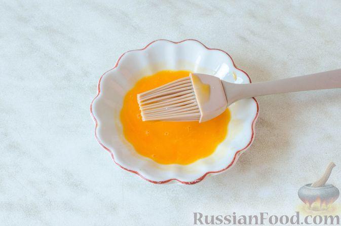 Фото приготовления рецепта: Отрывной пирог с курицей - шаг №26