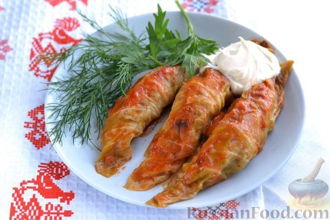 Фото приготовления рецепта: Голубцы со свиниными отбивными и грибами, без риса (в духовке) - шаг №18