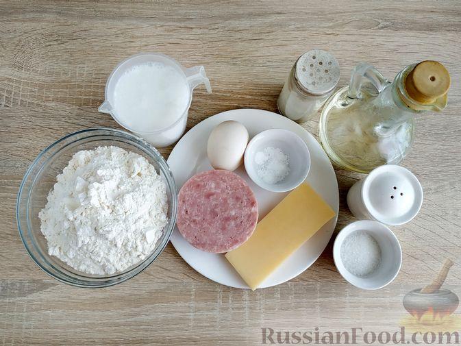 Фото приготовления рецепта: Оладьи с ветчиной и сыром - шаг №1