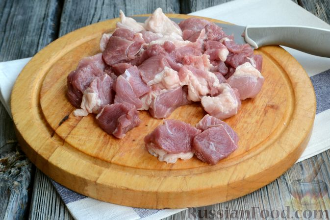 Фото приготовления рецепта: Гуляш из свинины, с черносливом - шаг №2