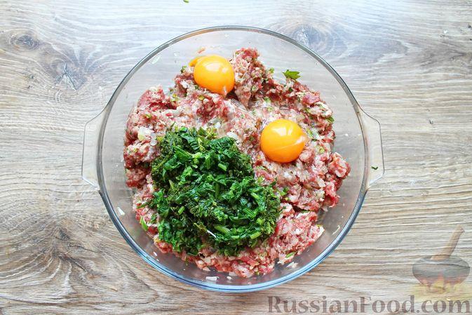 Фото приготовления рецепта: Мясные котлеты со шпинатом (в духовке) - шаг №9