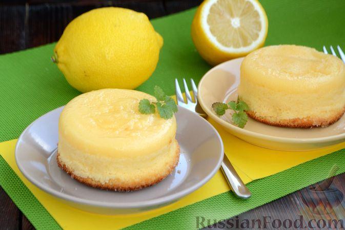 Фото приготовления рецепта: Лимонные пирожные - шаг №17