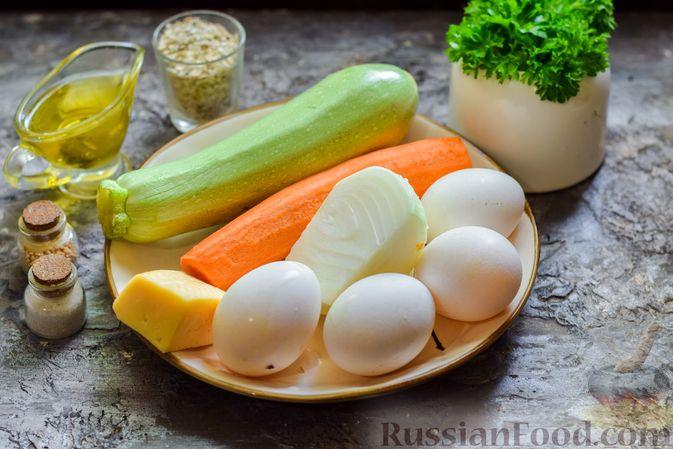 Фото приготовления рецепта: Запеканка из кабачка, моркови и овсяных хлопьев - шаг №1