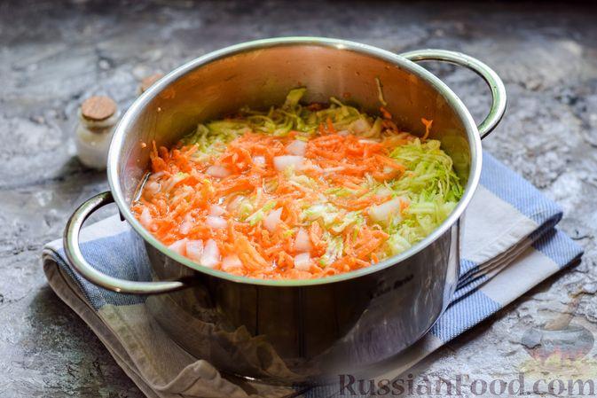 Фото приготовления рецепта: Запеканка из кабачка, моркови и овсяных хлопьев - шаг №5
