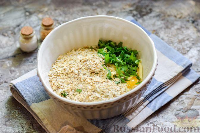 Фото приготовления рецепта: Запеканка из кабачка, моркови и овсяных хлопьев - шаг №8