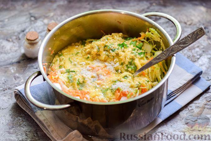 Фото приготовления рецепта: Запеканка из кабачка, моркови и овсяных хлопьев - шаг №10