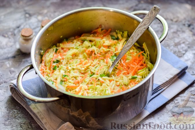 Фото приготовления рецепта: Запеканка из кабачка, моркови и овсяных хлопьев - шаг №11