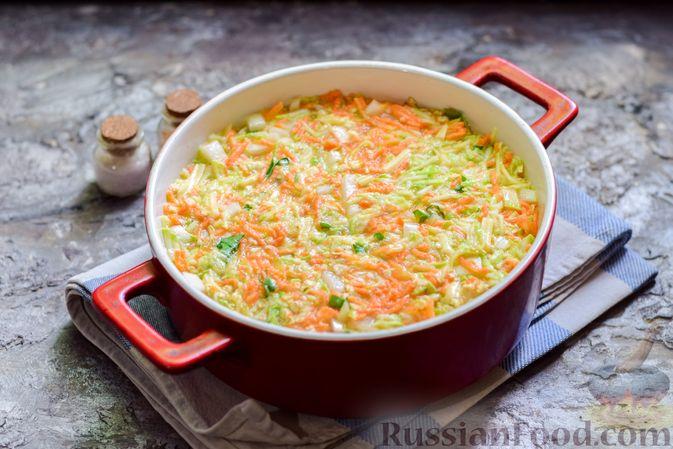 Фото приготовления рецепта: Запеканка из кабачка, моркови и овсяных хлопьев - шаг №12