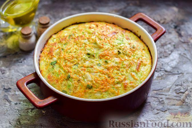 Фото приготовления рецепта: Запеканка из кабачка, моркови и овсяных хлопьев - шаг №13