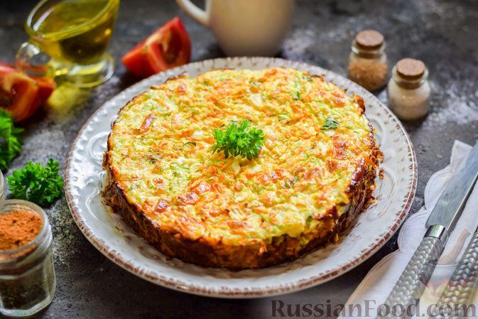 Фото приготовления рецепта: Запеканка из кабачка, моркови и овсяных хлопьев - шаг №14