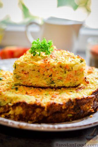 Фото приготовления рецепта: Запеканка из кабачка, моркови и овсяных хлопьев - шаг №15