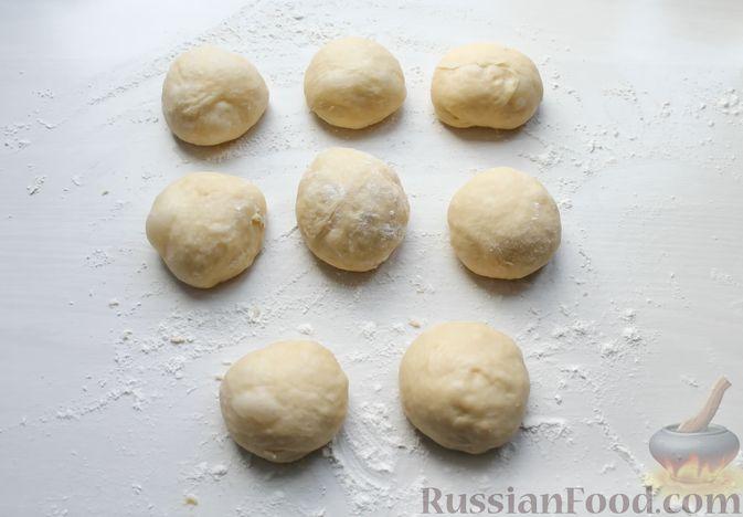 Фото приготовления рецепта: Толстые дрожжевые блины на молоке, манке и пшённой каше - шаг №3