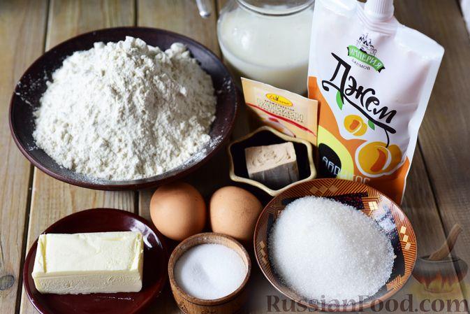 Фото приготовления рецепта: Сдобные булочки-цветочки с джемом и штрейзелем - шаг №1
