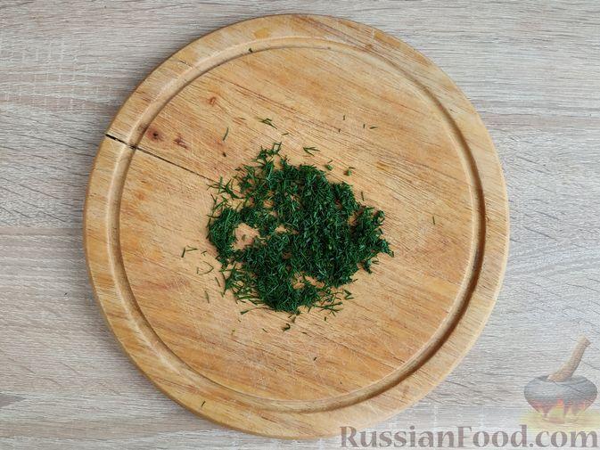 Фото приготовления рецепта: Несладкая ленивая овсянка с морковью и зеленью - шаг №3