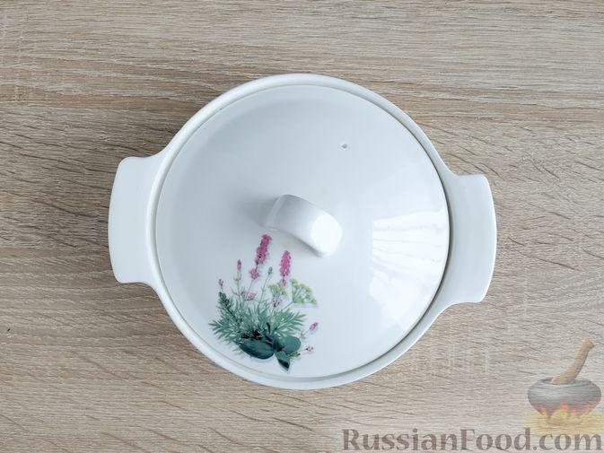 Фото приготовления рецепта: Несладкая ленивая овсянка с морковью и зеленью - шаг №9