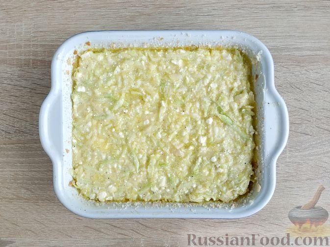 Фото приготовления рецепта: Творожно-кабачковая запеканка - шаг №10