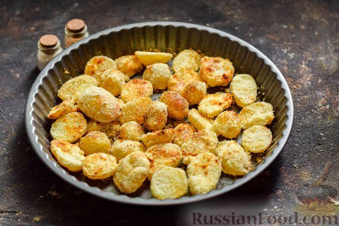 Фото приготовления рецепта: Картофель, запечённый в манке - шаг №7