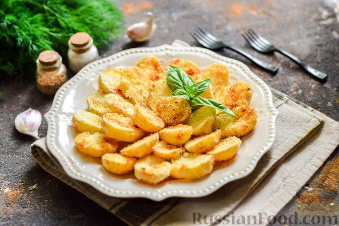 Фото приготовления рецепта: Картофель, запечённый в манке - шаг №8