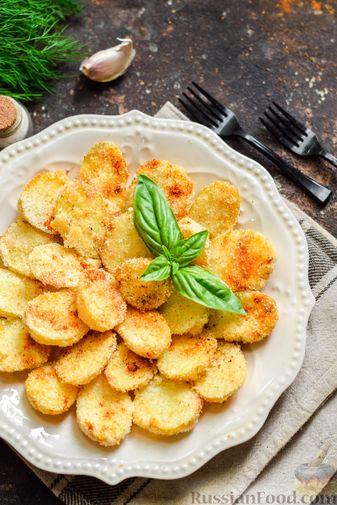 Фото приготовления рецепта: Картофель, запечённый в манке - шаг №9