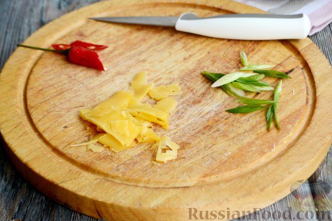 Фото приготовления рецепта: Пряный суп с куриным филе и консервированной фасолью - шаг №15