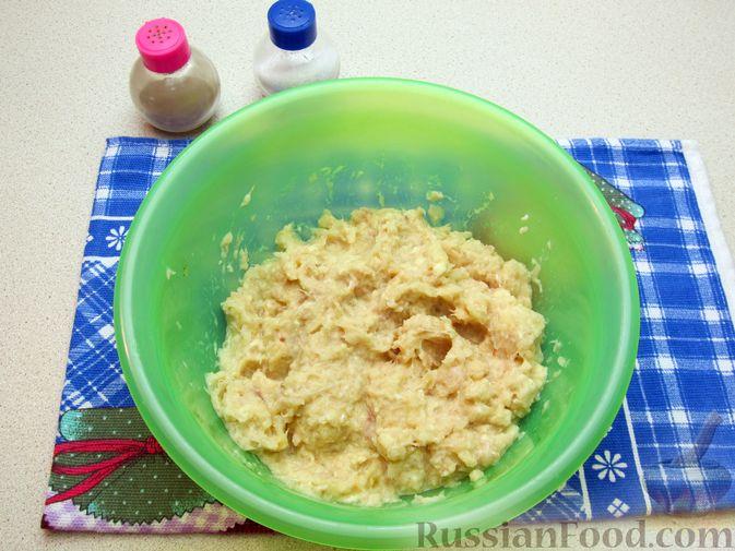 Фото приготовления рецепта: Рыбные зразы с плавленым сыром - шаг №6