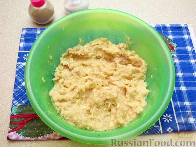 Фото приготовления рецепта: Рыбные зразы с плавленым сыром - шаг №8