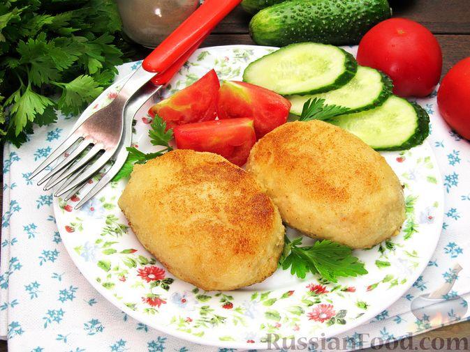 Фото приготовления рецепта: Рыбные зразы с плавленым сыром - шаг №17
