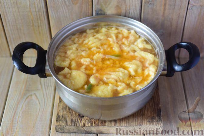 Фото приготовления рецепта: Фасолевый суп с клецками - шаг №13
