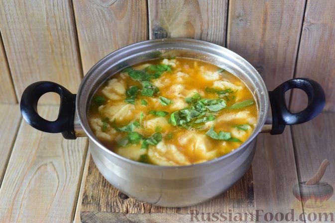 Фото приготовления рецепта: Фасолевый суп с клецками - шаг №14