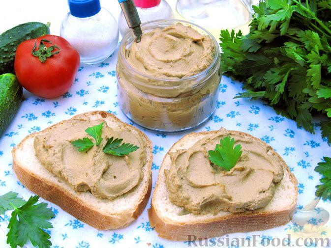 Фото к рецепту: Печёночный паштет с творогом