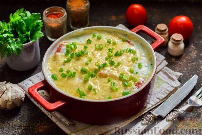 Фото приготовления рецепта: Кабачки, запечённые с молодой картошкой и помидорами, в соусе бешамель - шаг №19