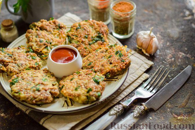 Фото к рецепту: Котлеты из гречки, картофеля и зелени (без яиц)