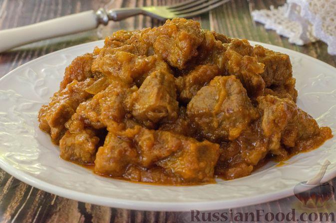 Фото к рецепту: Говядина в кисло-сладком соусе