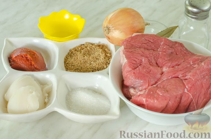 Фото приготовления рецепта: Говядина в кисло-сладком соусе - шаг №1