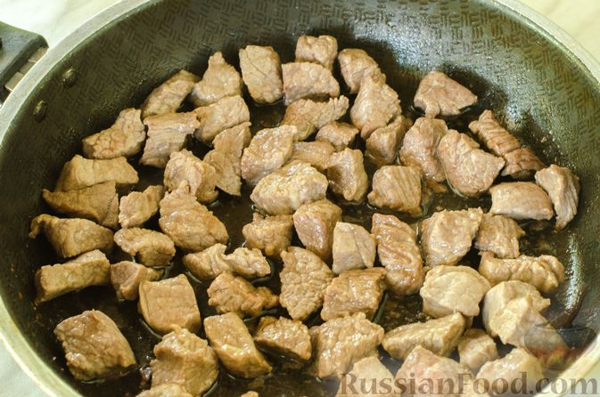 Фото приготовления рецепта: Говядина в кисло-сладком соусе - шаг №3