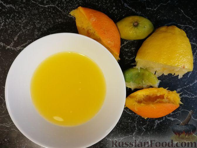 Фото приготовления рецепта: Бифштекс в пряном цитрусовом маринаде - шаг №3