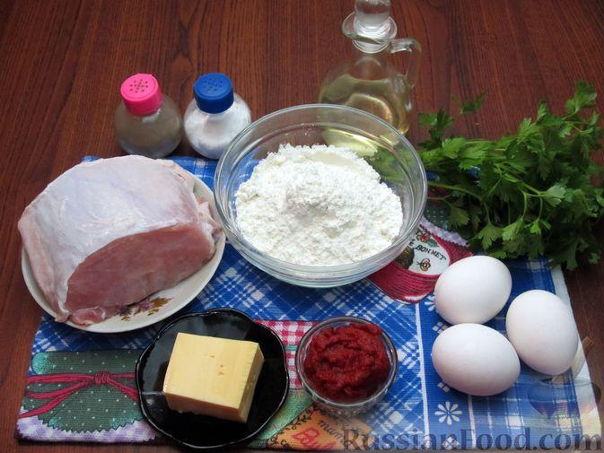 Фото приготовления рецепта: Отбивные из свинины в томатно-сырном кляре - шаг №1