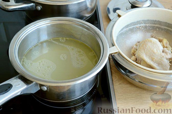 Фото приготовления рецепта: Крем-суп из кабачка, зеленого горошка и стручковой фасоли - шаг №3