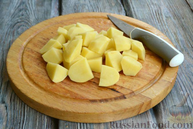 Фото приготовления рецепта: Крем-суп из кабачка, зеленого горошка и стручковой фасоли - шаг №7
