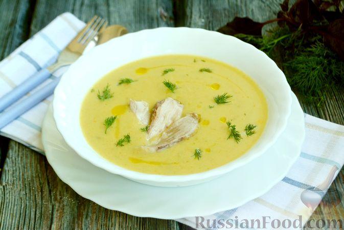Фото приготовления рецепта: Крем-суп из кабачка, зеленого горошка и стручковой фасоли - шаг №16