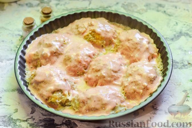 Фото приготовления рецепта: Ленивые голубцы с ячневой крупой, в духовке - шаг №15