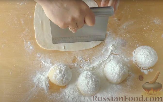 """Фото приготовления рецепта: Слоистый пирог с творогом и сахарным сиропом, или  Творожная """"пахлава"""" - шаг №6"""