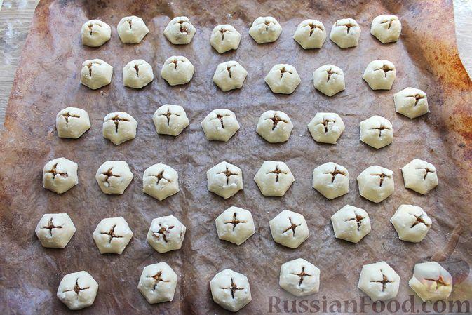 """Фото приготовления рецепта: Творожное печенье """"Пельмешки"""" с орехами и джемом - шаг №19"""