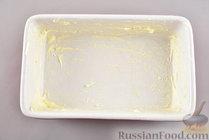 Фото приготовления рецепта: Омлет с творогом (в духовке) - шаг №7