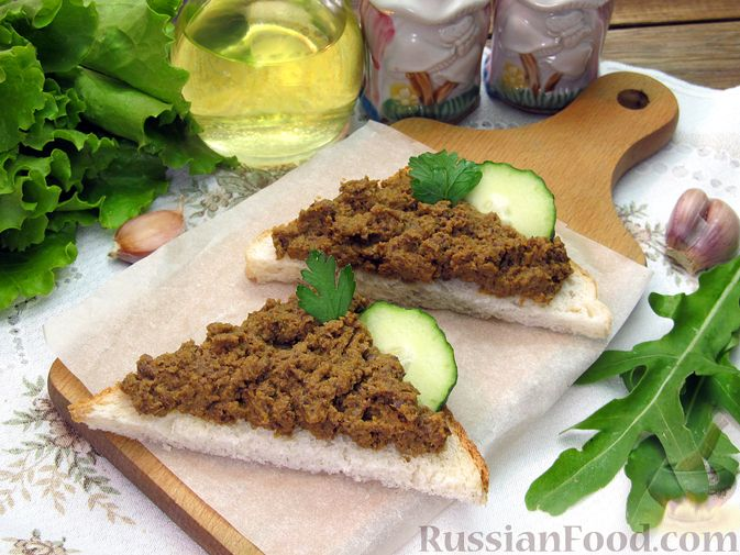 Фото приготовления рецепта: Паштет из куриных сердечек с овощами (на сковороде) - шаг №12