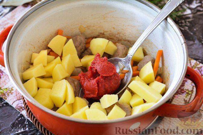 Фото приготовления рецепта: Суп из говядины с кабачками - шаг №8