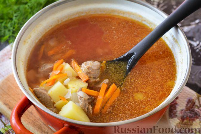 Фото приготовления рецепта: Суп из говядины с кабачками - шаг №9